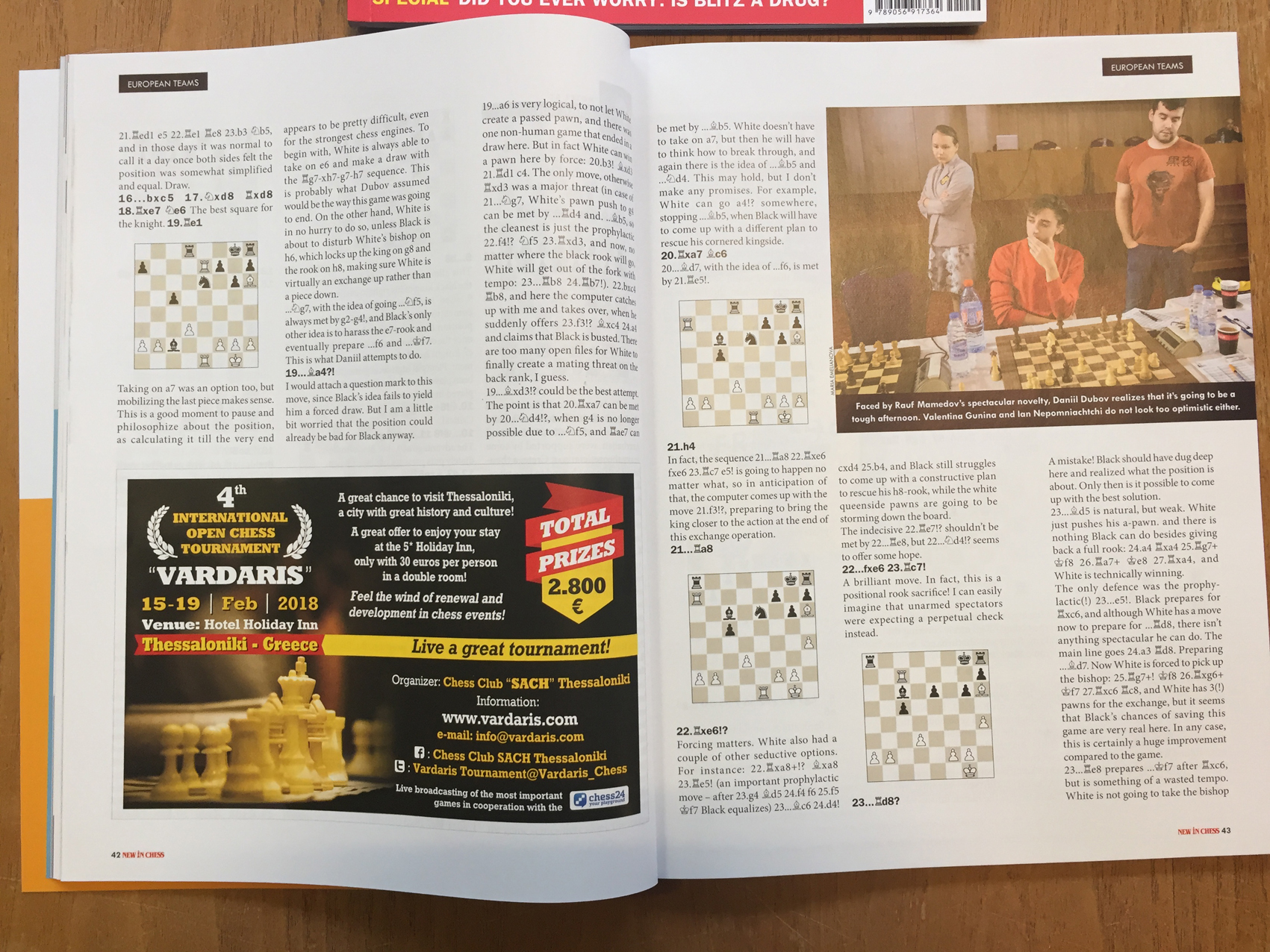 "Vardaris in ""New In Chess"" just released issue"