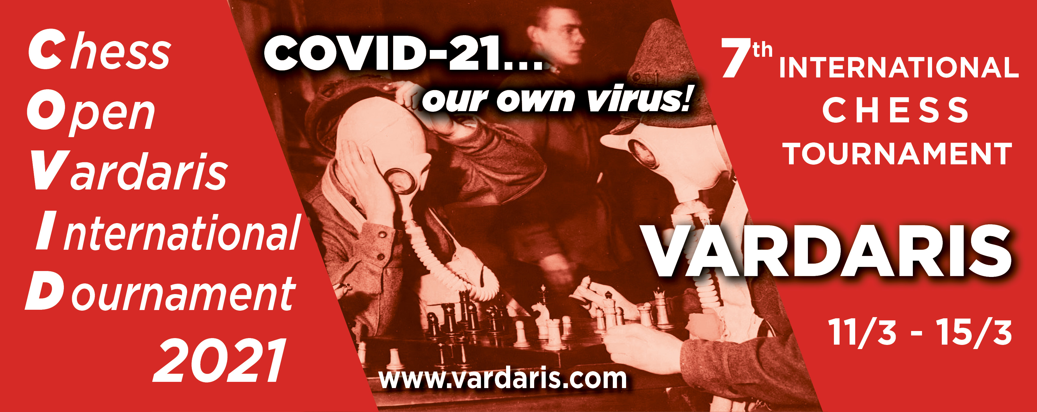 "Announcement for the 7th International Chess Tournament ""Vardaris"""